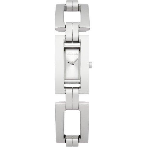 Karen Millen KM121SM - Orologio da polso da donna, cinturino in acciaio inox colore argento