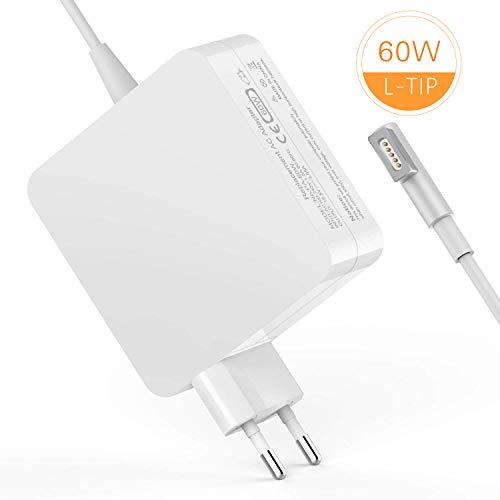 60w Netzteil Ladegerät (TechDot Macbook Pro Ladekabel 60W MagSafe 1 L Macbook Pro Ladegerät Power Adapter Netzteil kompatibel mit Apple 13