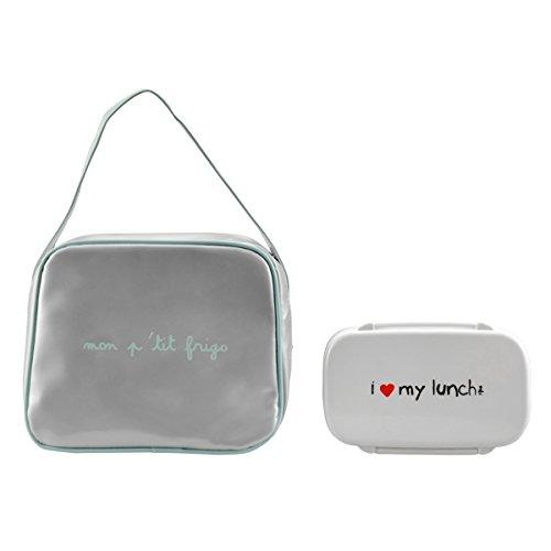 Incidence Paris Lunch Bag Isotherme Bagage Cabine, 24 cm, 0,50 L, Gris/Bleu Givré Incidence Paris