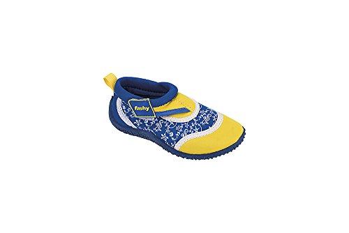 """Fashy Kleinkinder Aqua-Schuh Modell 7494 00"""" Arona in 2 Farben und Den Größen 21-27 (24, Blau-Gelb)"""
