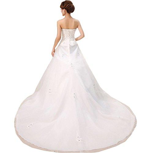 partiss Femme élégante robe robe de mariée White Long