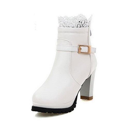 Bianco Fino A Voguezone009 Con Anello Solido Colore Mescolato Materiale Stivali Donna Tacco qEPwpR