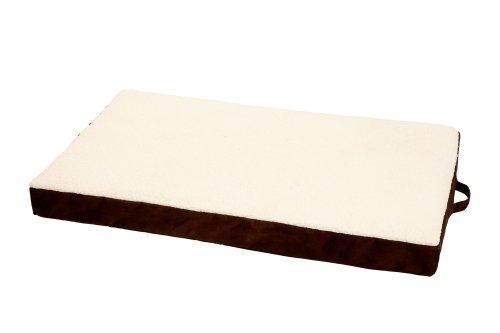 Karlie Ortho Bed, Eckig Liegebett, braun 72 x 50 x 10 cm