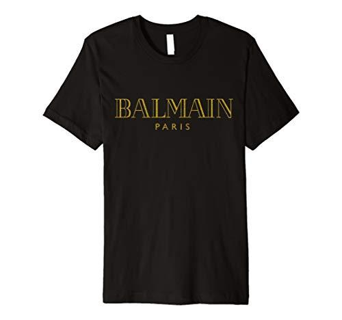 Balmain-Paris Gold T Shirt