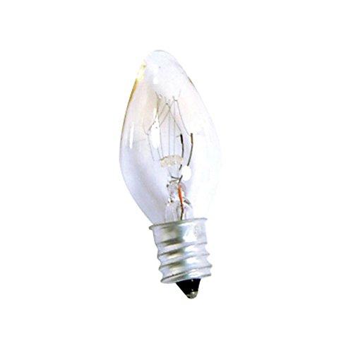 Weiß Kandelaber (Bulk Hardware BH02409 Nachtglühlampe, 7 W, Kandelaber Edisonsockel, Weiß)