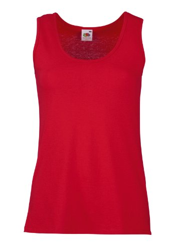 Red Womens Tank Top (Fruit Of The Loom 61376 Womens Sleeveless Ladies Lady-Fit Valueweight Vest Tank Top - Red - X-Large)