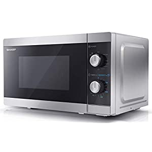 Sharp YC-MG01U-S 20L 800W Microwave with 1000W Grill - Silver