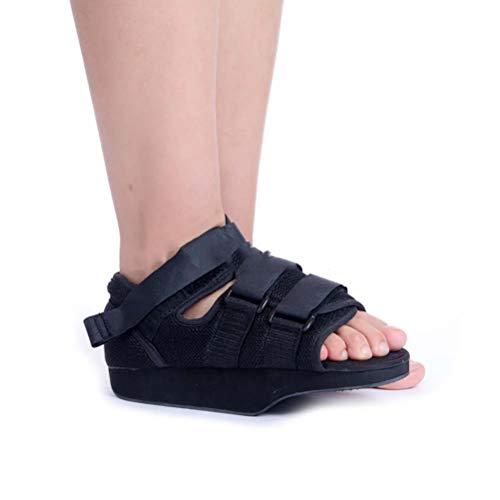 ZHANGZHIYUA Kompletter Medical Heel Wedge Healing Schuh, großer Leichter Medical Walking Boot mit verstellbaren Trägern - Post-Injury Surgical Foot Cast,L - Aircast Leichte Walker
