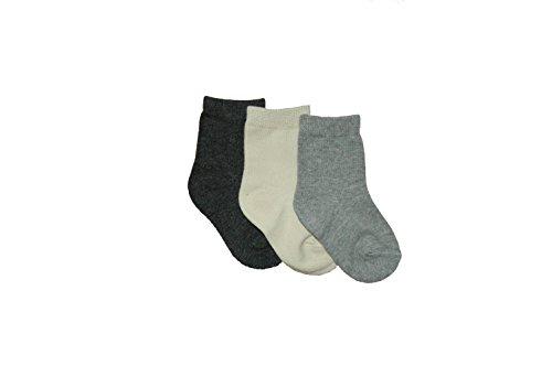 3er-Pack Baby und Kinder Socken. Versch. Farben. Mädchen/Junge. (74/80, Grau)
