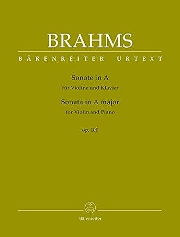 BRAHMS - Sonata Op.100 en La Mayor para Violin y Piano (Urtext) (Brown/Da Costa)