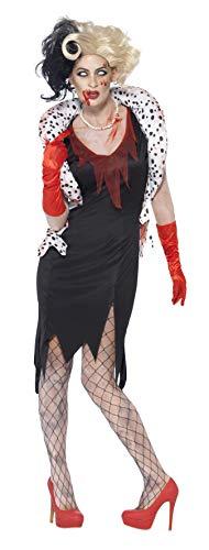 Smiffys, Damen Zombie-Böse Madame Kostüm, Kleid, Bolero, Halskette und Handschuhe, Größe: S, ()