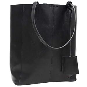 31elcczpnNL. SS300  - Gusti Bolso - Cassidy Bolso con asas bolso de cuero mujer hombre 13 litros Cuero negro