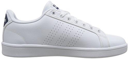 adidas Herren Cloudfoam Advantage Clean Sneaker Elfenbein (Ftwr White/ftwr White/collegiate Navy Ftwr White/ftwr White/collegiate Navy)