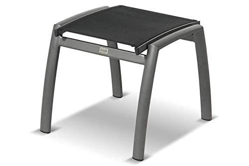 Hartman Alice Hocker in anthrazit, xerix/Black aus Aluminium und Textilene, 54x51x46cm, Sitzhocker Garten Balkon Terrasse -