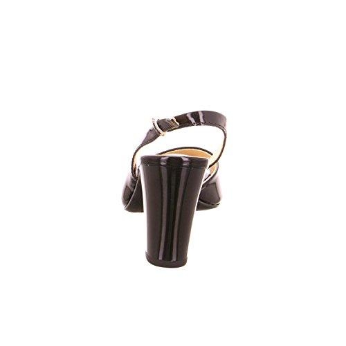Caprice - 28311, Scarpe col tacco con cinturino a T Donna Nero