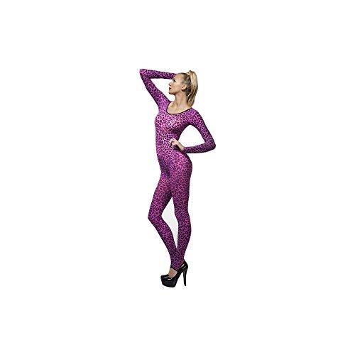 sexy Damen Bodysuit Leopard Leo Print in pink Erotik Lingerie Gr.S/M (Sexy Leopard Halloween Kostüme)