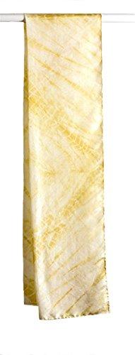 Vinotinte - Sciarpa di seta, rettangolare - SHIBORI - fatto a (Sciarpa Shibori Seta)