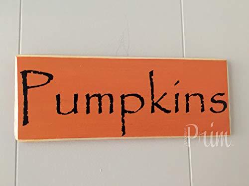 Yohoba 25,4 x 10,2 cm Kürbis Aufnäher Happy Fall Halloween Äpfel Gewürz Wandkunst Home Familie Dekoration Design Holzplakette Schild Schild
