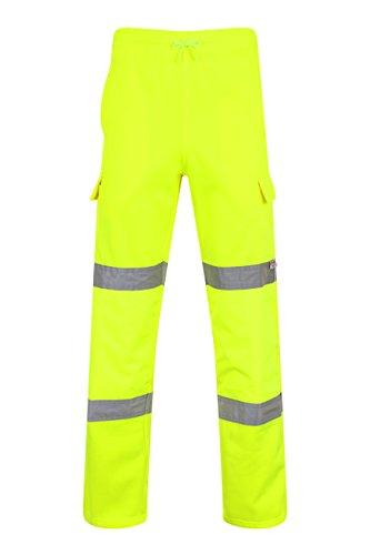 Preisvergleich Produktbild Safety-Site Warnschutzhose / Jogginghose mit Fleece-Futter und Relfexstreifen - XL EU / UK