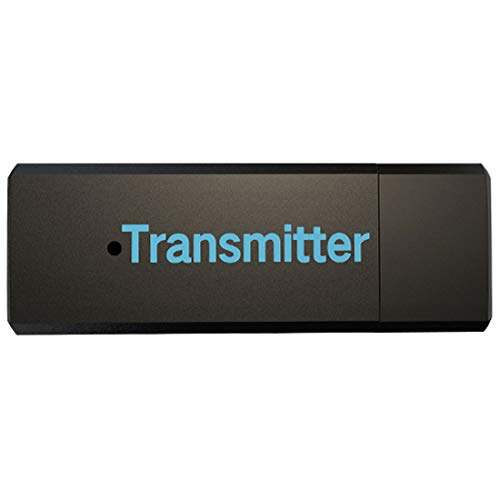 NoyoKere Receptor transmisor Bluetooth 4.1, Receptor de Adaptador estéreo inalámbrico de música de Audio de 3.5 mm para TV PC Bluetooth Altavoz Auricular