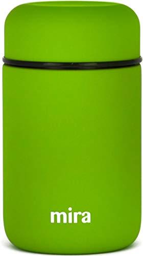 MIRA Mittagsessen, Lebensmittelbehälter, vakuumisolierte Edelstahl-Thermosbehälter, 400 ml (13.5 oz), Kaktusgrün