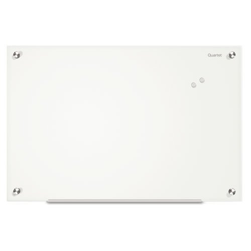 QRTG2418W - Infinity Magnetic Glass Marker Board by Quartet (Magnetic Glass Board)