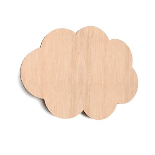 10x Holz Cloud Form Wolken Uni Sky Tag blanko Dekoration Raum