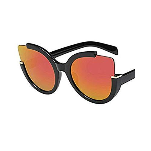 TTLOVE Frauen MäNner Vintage Retro Brille Unisex Mode Spiegel Objektiv Sonnenbrille Schick Klassische Aviator Modebrille Sommerbrille Damenmode Damen Herren (E)