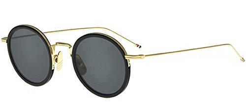 thom-browne-tbs-906-black-gold-rondes-metal-unisexe