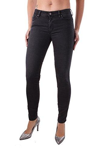 Diesel Doris 0668C Jeans Jeans Pantalons Super Slim Skinny Noir