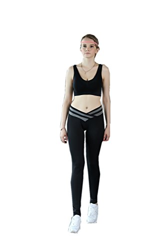 Katuo calzamaglia da donna Active leggings yoga Pants Grey