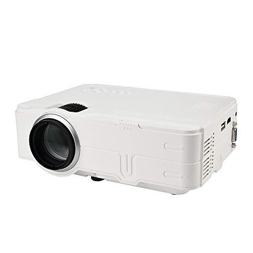 Fulltime E-Gadget Beamer, Voller HD 1080P-Videoprojektor HDMI-VGA-USB-WiFi-Verbindung des 170inch Anzeige-LED für Heimkino PCs Laptops Tablets Blu-ray-DVD-Player (Weiß)