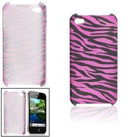 Amaranth rosa schwarzen Hartplastik Zebra-Druck zurück Fall Shell für das iPhone 4