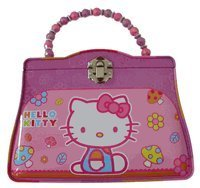Sanrio Hello Kitty Tea Time Tin Pink and Blue Purse