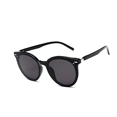 ZUEN Vintage Sonnenbrille für Damen, koreanische Version der Big Box Herren Wild, UV400-Schutz gegen Augenermüdung,A