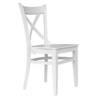 abritus Stuhl Esszimmerstuhl Holzstuhl Lehnstuhl Buche Holz weiß »T010«