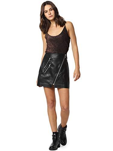 Only ONLNAEVE-Tilda Mini PU Skirt Pnt Black 15186814 (38)