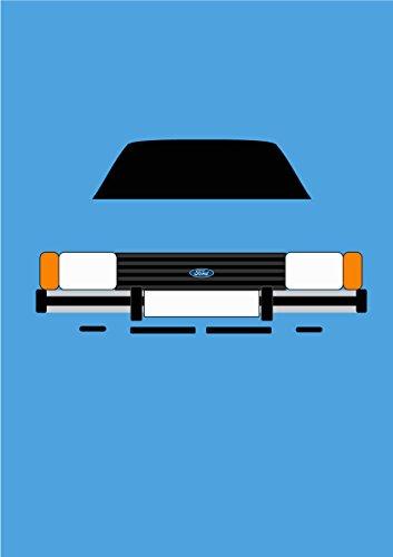 Ford Cortina Mk5–Tarjeta de felicitación Retro Motor Company