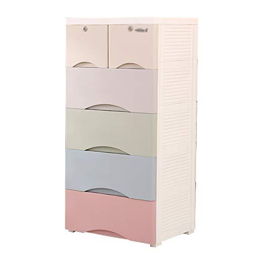 5 Schublade Schlafzimmer-kommode (Zzg-2 Multifunktions-Aufbewahrungsbox, verdicken Schubladentyp Kunststoff Kommode Schlafzimmer mehrschichtige Nachttisch Schließfach, 50 * 40 * 103CM (Farbe : #5))