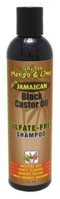 Jam. Mango & Lime Black Castor Oil Shampoo Sulfate-Free 8oz (2 Pack) by Jamaican Mango & Lime
