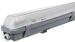 Müller-Licht LED-Feuchtraumleuchte 60 cm für höchsten Lichtkomfort - schönes neutralweißes Licht (4000 K) für optimale Arbeitsbeleuchtung - 1 x 9 W LED-Röhre - IP65 - grau
