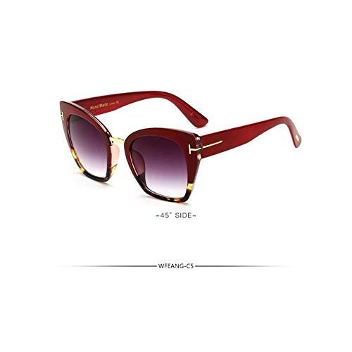 SUGLAUSES Sonnenbrillen Mode Cat Eye Sonnenbrille Frauen Tom Sun Big Size Vintage Oversize Weiblichen Farbverlauf Punkte