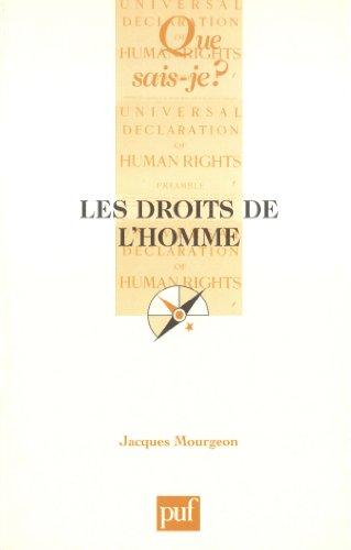 Les Droits de l'homme par Jacques Mourgeon