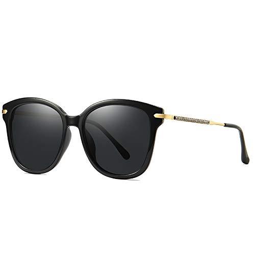 SYQA Polarisierte Sonnenbrille Frauen Retro Stil metallrahmen Sonnenbrille berühmte Dame,C1