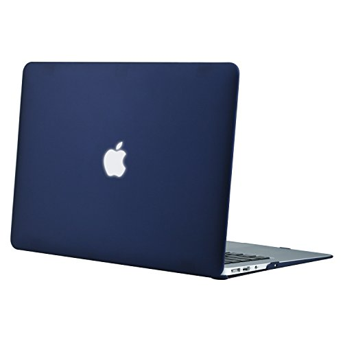 MOSISO MacBook Air 13 Hülle - Ultra Slim Hochwertige Plastik Hartschale Tasche Schutzhülle Snap Case für MacBook Air 13 Zoll (A1466 / A1369), Navy Blau (Macbook Air Case Blau)