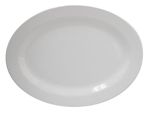 100% Melamin-Geschirr Servierplatte Purely weiss, rund…   04260241466560