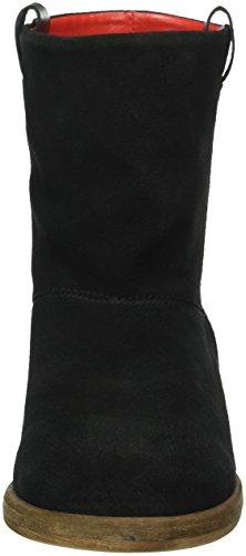 Liebeskind Berlin - Ls0124 Crosta, Stivali a metà polpaccio non imbottiti Donna Nero (Schwarz (ninja black 9998))