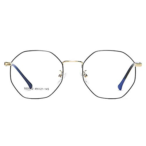 Der Geschmack von zu Hause Strahlungssichere Retro Polygon Unregelmäßige literarische Farbwechsel Anti-Blau Brille Männer und Frauen Rahmen Brille