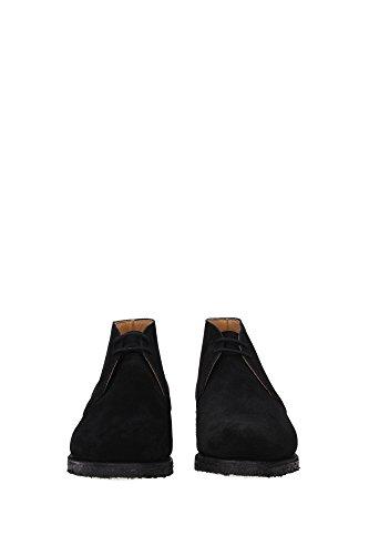 RYDER81BLACK Church's Chaussure montante Homme Chamois Noir Noir