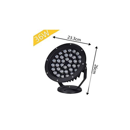 XEX LED Strahler Mit,Scheinwerfer Außenstrahler Wasserdicht Rundes Rasenlicht, Landschaftsstrahler Bäume Grün (Farbe : 36W, größe : Warmes licht) - Licht Grüne Bäume